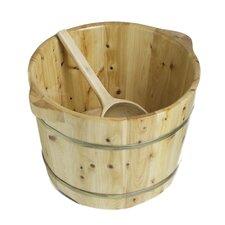 Foot Soaking Barrel Bucket with Matching Spoon