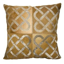 Dallas Infinity Square Leather Throw Pillow
