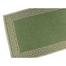Greek Key Emerald Indoor/Outdoor Area Rug