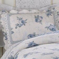 Rose Blossom Blue Standard Sham
