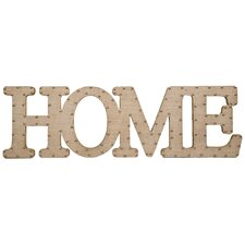 Burlap Script Home Wall Decor