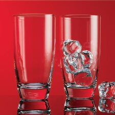 Red Series 16 oz. Round Highball Glass (Set of 4)