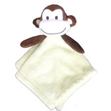 Monkey Coral Fleece Crib Throw