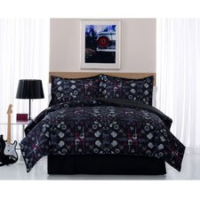 Rock Anthem Comforter and Pillow Sham
