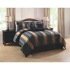 Midnight Stripe 7 Piece Comforter Set