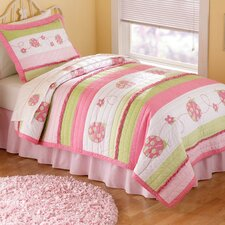 Crazy Pink Ladybug Quilt Collection
