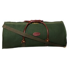 """30"""" Leather Rolled Handle Travel Duffel"""