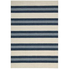 Oxford Navy/Ivory Awning Stripe Area Rug