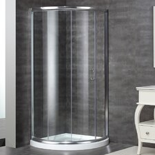 Neo-Angle Door Round Shower Enclosure with Shower Base