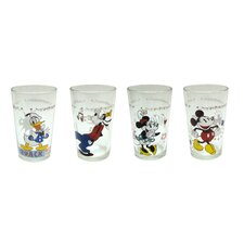 Disney 4 Piece 8 oz. Mickey and Friends Juice Glass Set