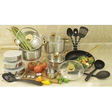 18/10 Stainless Steel 31-Piece Cookware Set