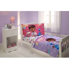 The Doc is In 4 Piece Doc McStuffins Toddler Bedding Set