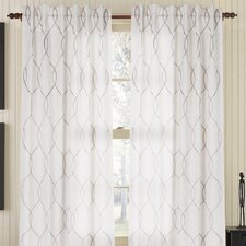 Amore Linen Rod Pocket Single Curtain Panel