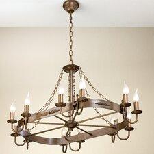 Rustik Medieval Twelve Light Chandelier