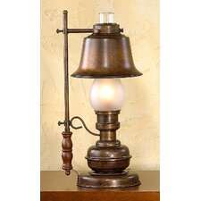 "Rustik Rustica 18.9"" H Table Lamp with Bell Shade"