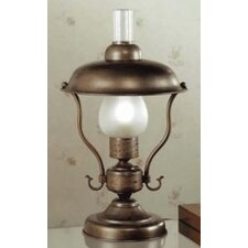 """Rustik Mambo 18.11"""" H Small Table Lamp with Bell Shade"""
