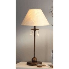 """Classic Missangas 20.47"""" H Table Lamp with Empire Shade"""