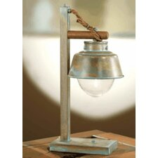 """Nautic Amarras 23.23"""" H Table Lamp with Bell Shade"""
