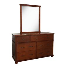 Woodridge 7-Drawer Wood Dresser with Mirror