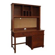 "Woodridge 53"" W Large Pedestal Desk with Hutch"