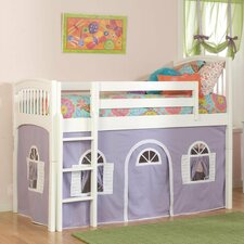 Windsor Twin Low Loft Tent Bed with Built-In Ladder
