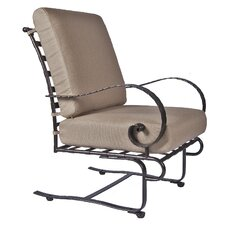 Classico-W Spring Base Lounge Chair with Cushion