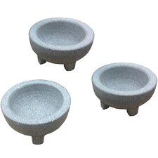 GlobalKitchen Mini Granite Molcajete (Set of 3)