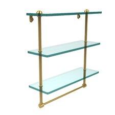 Universal Triple Glass Shelf with Towel Bar
