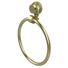 Venus Wall Mounted Towel Ring with Twist Detail