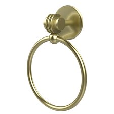 Satellite Orbit Two Wall Mounted Single Towel Ring with Dotted Detail