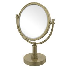 Vanity Top Make-Up 3X Magnification Mirror with Groovy Detail