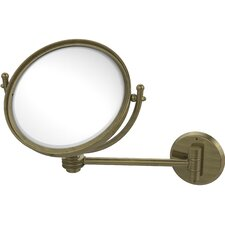 Wall Mounted Make-Up 3X Magnification Mirror with Dotted Detail
