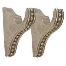 Compatible Drapery Beaded Curtain Bracket (Set of 2)