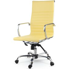 High-Back Eco-Leather Executive Swivel Office Chair with Arms (Set of 10)