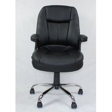 Winport Pleated Mid-Back Leather Conference Chair