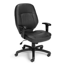 Leatherette Back Ergonomic Confrence Chair with Arms