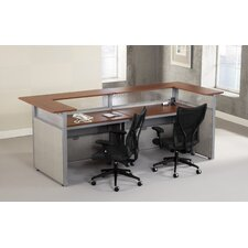 Standard Rectangular Reception Desk
