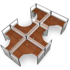 Workstation Panel System 2x3 Configuration