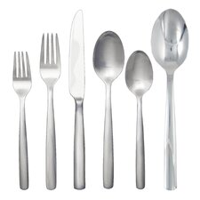 Simple 42 Piece Stainless Flatware Set