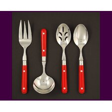 Stainless Steel LePrix 4 Piece Hostess Set in Red
