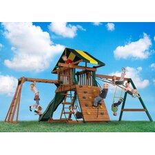 Wood Castle Rock Swing Set