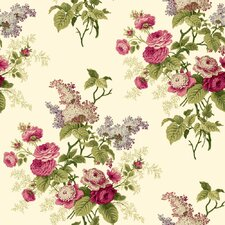 "Waverly Cottage Emma's Garden 33' x 20.5"" Floral and Botanical Wallpaper"