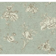 """Waverly Cottage Magnolia Blossoms Picture Perfect 33' x 20.5"""" Floral and Botanical Wallpaper"""