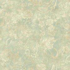 "Shimmering Topaz 27' x 27"" Textured Rose Wallpaper"