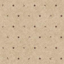 "Country Keepsakes 33' x 20.5"" Barn Star Sidewall Roll Wallpaper"