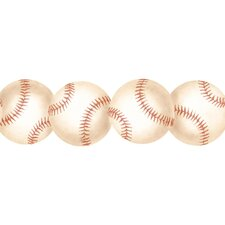 "Baseball 15' x 3"" Figural Border Wallpaper"