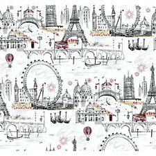 "27' x 27"" Novelty Euro Scenic Wallpaper"