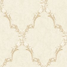 "Heritage Home 27' x 27"" Emblem Frame Trellis Distressed Wallpaper"