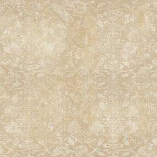 "Elements Opal 27' x 27"" Damask Distressed Wallpaper"