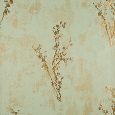 "Enchantment 33' x 20.8"" Zen Floral Foiled Wallpaper"